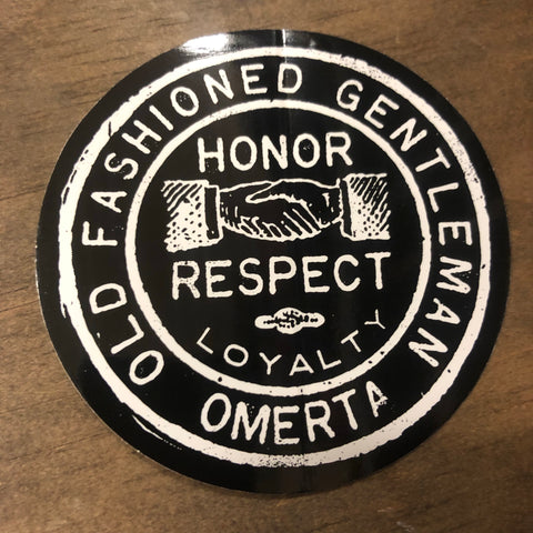 Old Fashioned Gentleman Black Sticker 3.5""