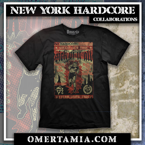 "Sick Of It All / Omerta ""Built To Last"" Shirt"