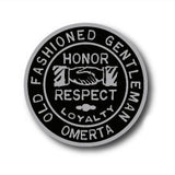 "Old Fashioned Gentleman 1"" Silver Enamel Pin"