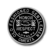 "Omerta Old Fashioned Gentleman 1"" Enamel Pin"