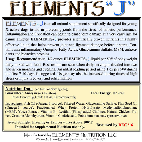 Elements J Label