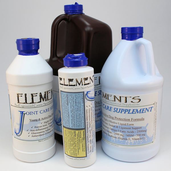 Elements J Product Size Options 16 oz, 32 oz, 64 oz & Gallon