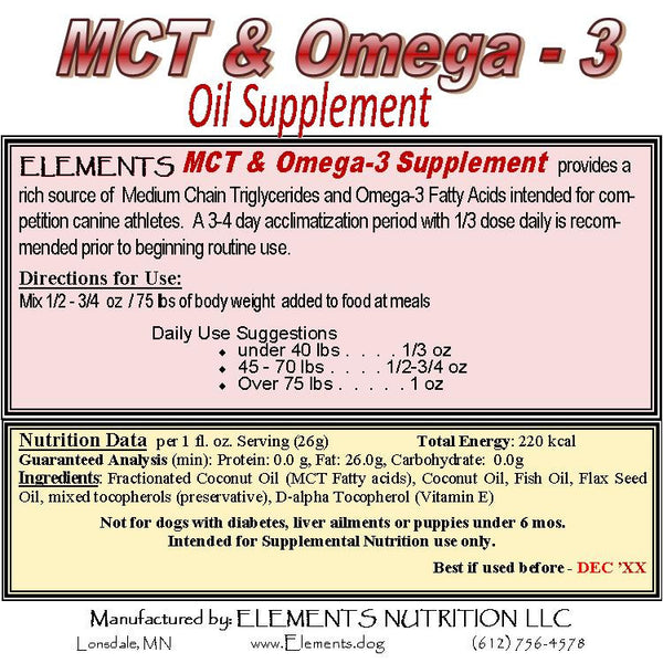 MCT & Omega-3 Oil Supplement