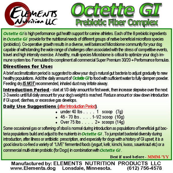 Octette GI Prebiotic Gut Health Supplement