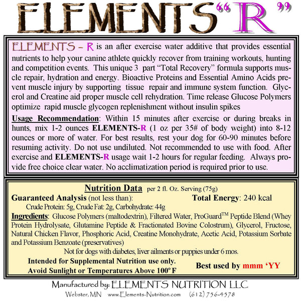 Elements R Instruction Label