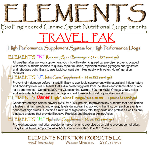 Elements Travel Pak System