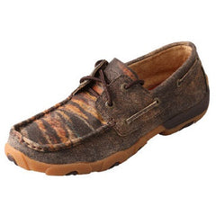Low Women's Driving Moccasin Distressed Tiger - Mr. Boots
