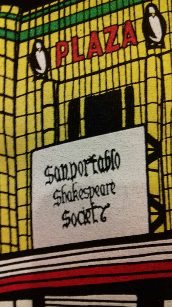 SAN PORTABLO SHAKESPEARE SOCIETY PLAZA T-SHIRT (A design perspective)