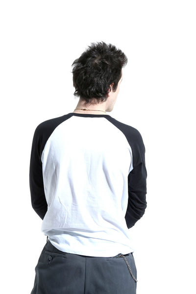 San Portablo 1901 Long Sleeve Black And White Baseball Top