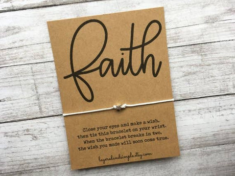 Faith Wish Bracelet