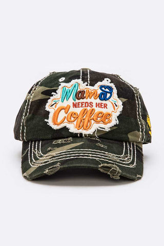 Mama Needs Her Coffee Vintage Cotton Cap