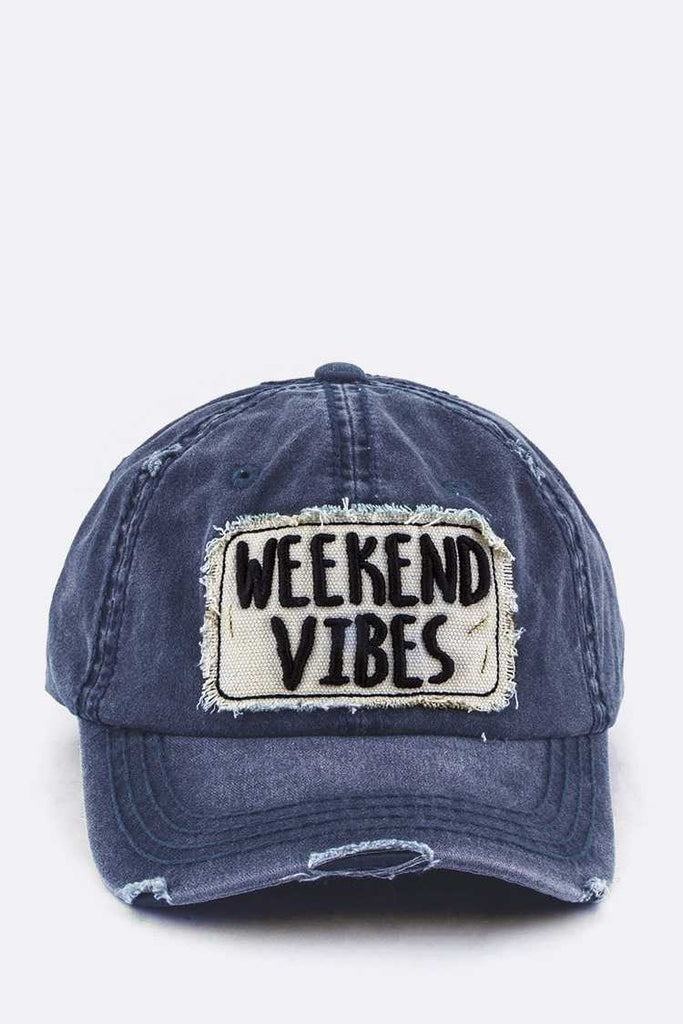 Weekend Vibes Embroidery Cotton Cap