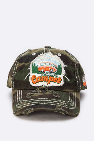 Happy Camper Vintage Cotton Cap