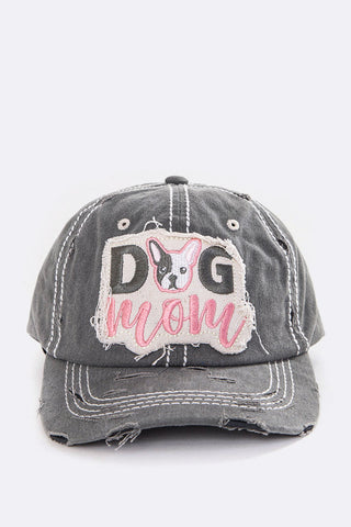Dog Mom Patch Vintage Wash Cap