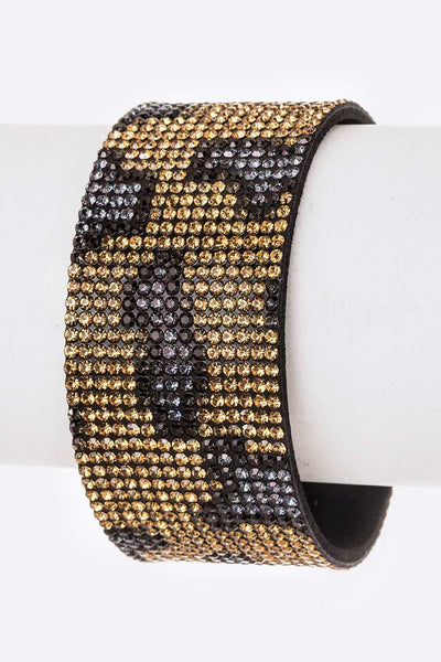 Magnetic Crystal Animal Print Cuff