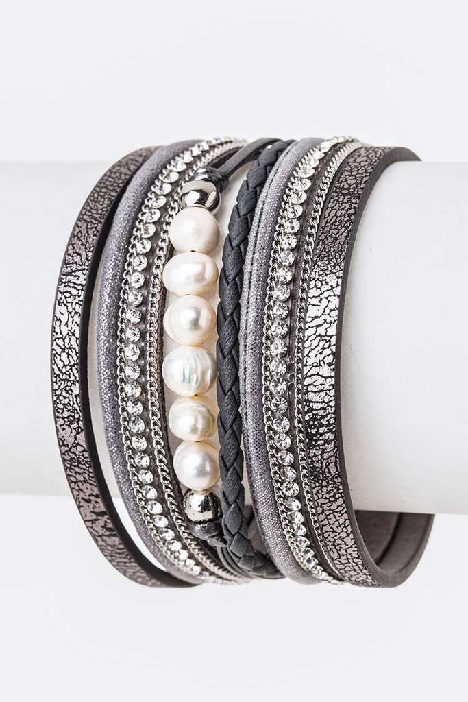 Pearl & Mix Textured Layer Cuff