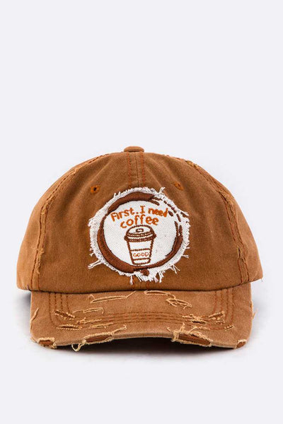 First I need Coffee Embroidery Cotton Cap