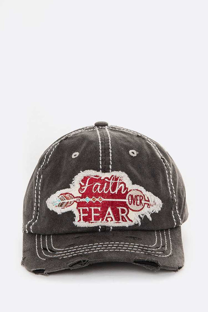 Faith Over Fear Iconic Cotton Cap