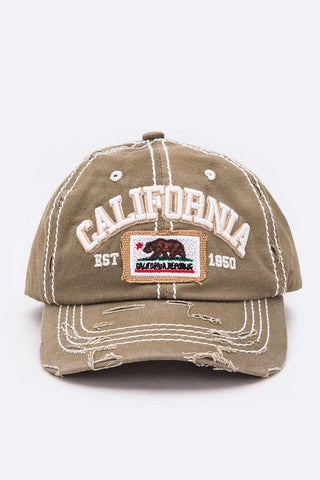 California Embroidery Cotton Cap
