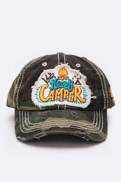 Happy Camper Cotton Cap