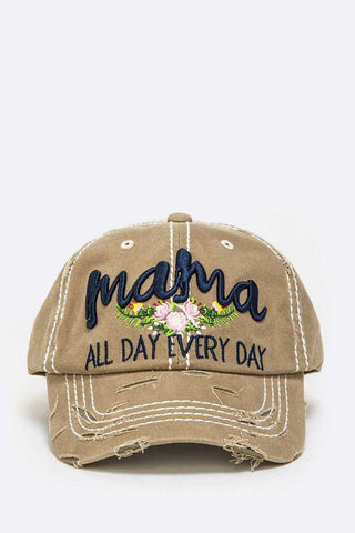 Mama All Day Embroidered Vintage Cap