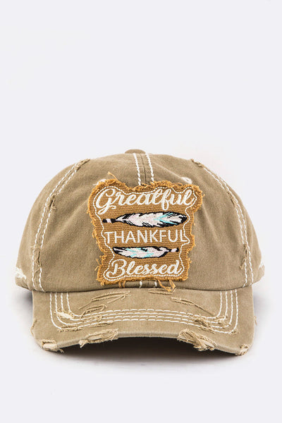 Greatful Embroidery Cotton Cap