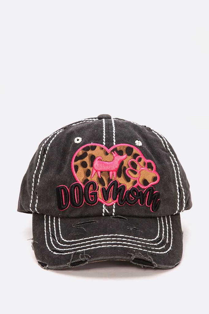 Dog Mama Embroidered Vintage Cotton Cap