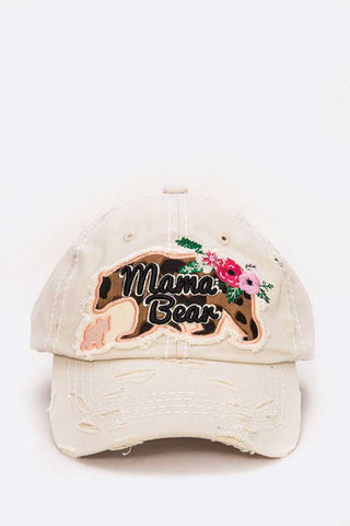 Mama Bear Vintage Cotton Cap