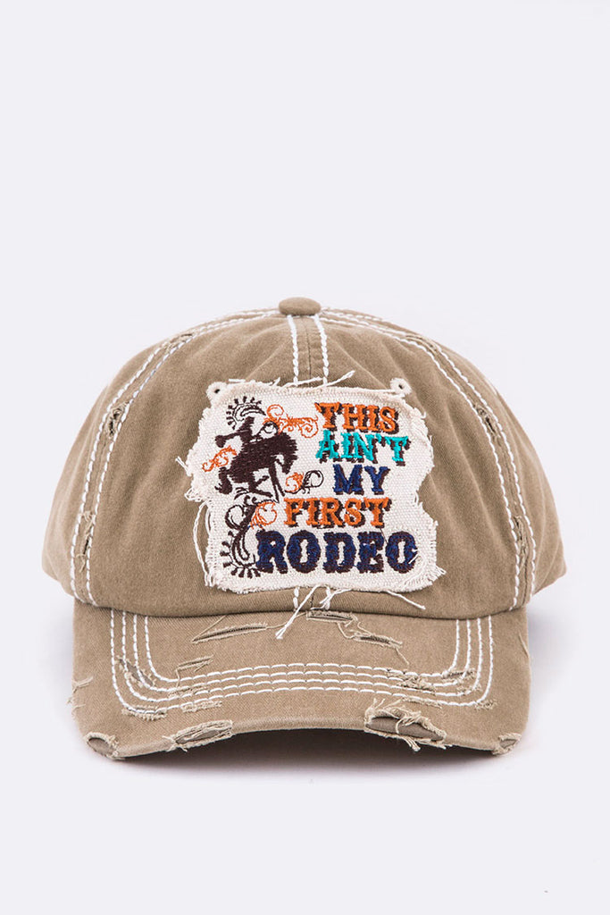 This Ain't My First Rodeo Vintage Wash Cap