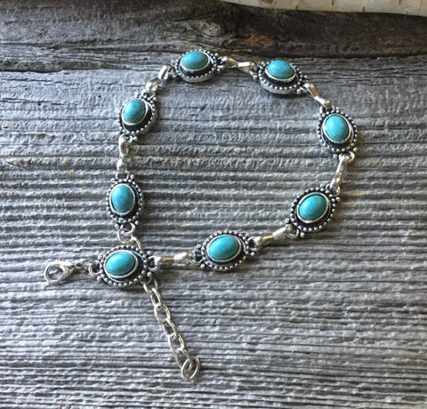 Anklet turquoise glory