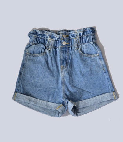 Elastic Waist Denim Short