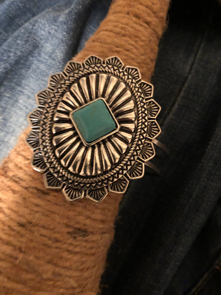 Turquoise Concho Iconic Western Bangle