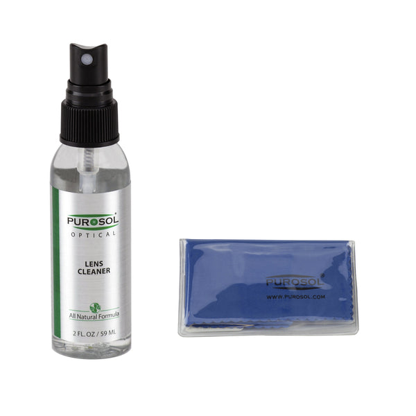 Purosol Lens Cleaning Kit w/ Small Microfiber Cloth - Purosol Professional Lens and Screen Cleaner