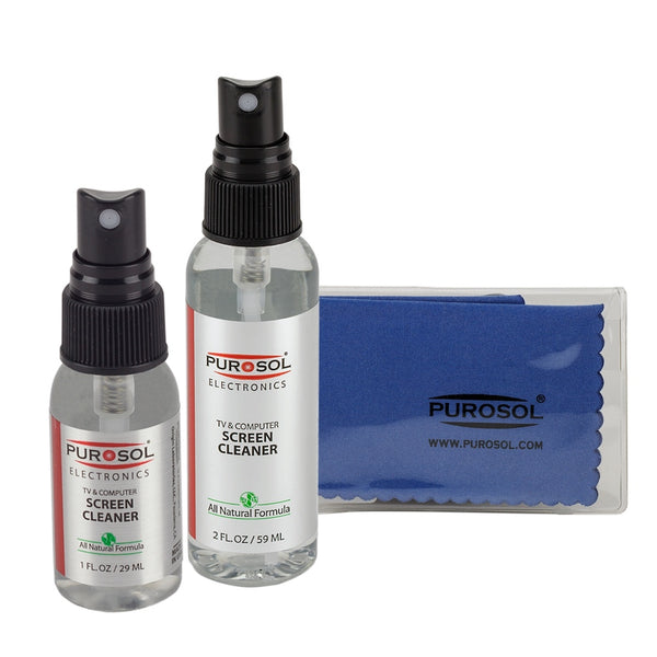 Purosol Screen Cleaning Kit w/ Small Microfiber Cloth - Purosol Professional Lens and Screen Cleaner