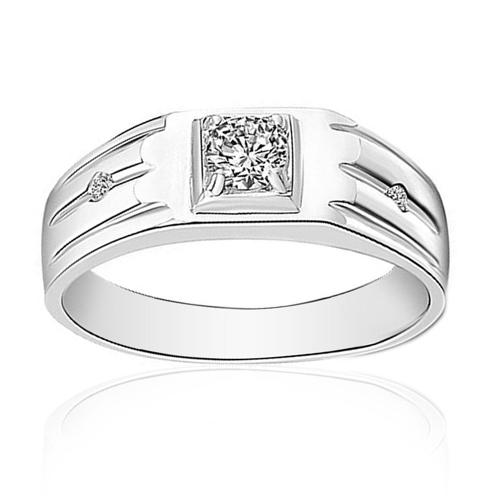 Jewels By Royal - Round Cut Diamond Men's Ring / Band