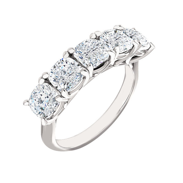 Jewels By Royal - Five Stone Cushion Cut Ring