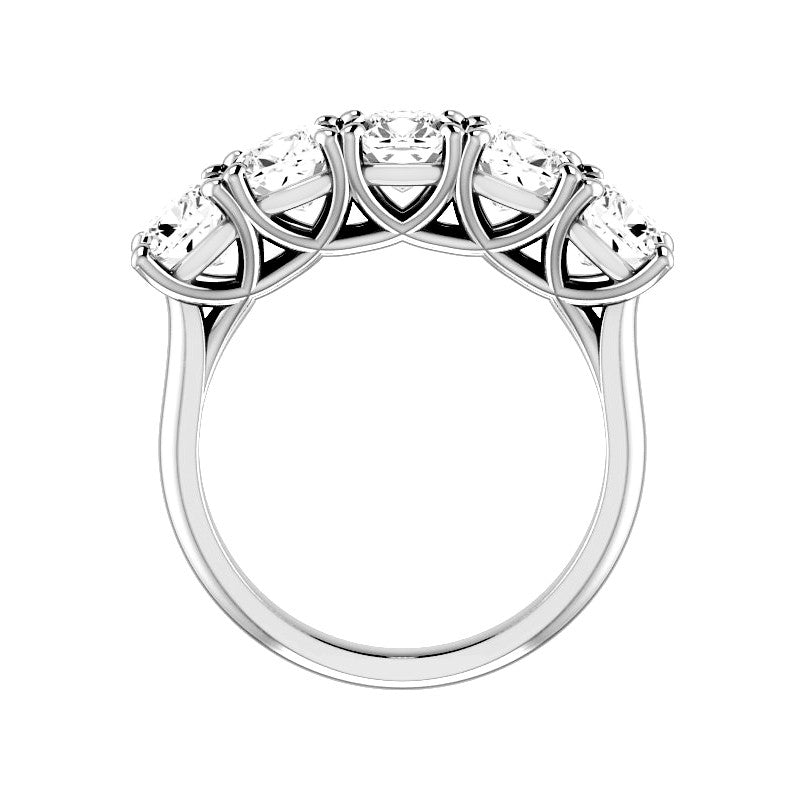 Jewels By Royal - Five Stone Princess Cut Ring