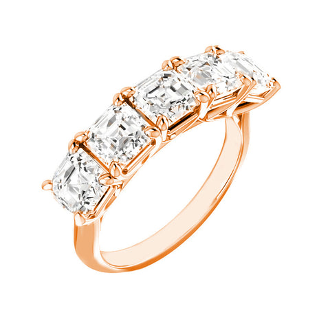 Jewels By Royal - Five Stone Asscher Cut Ring