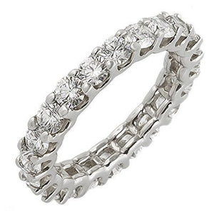 Jewels By Royal - Round Cut Diamond U-Prong Eternity Band (PMI31650)