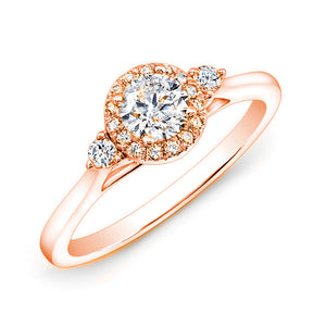Jewels By Royal - Round Cut Diamond Engagement Ring (RDHA050HI)