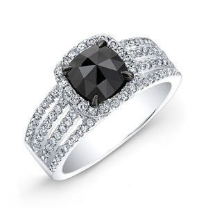 Jewels By Royal - Black Diamond Engagement Ring (28519WE)