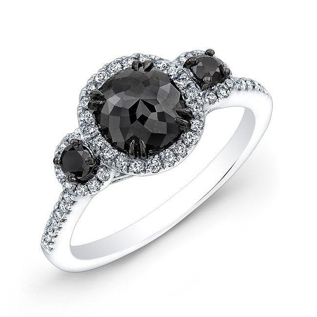 Jewels By Royal - Black Diamond Three Stone Ring (28682BKRC)