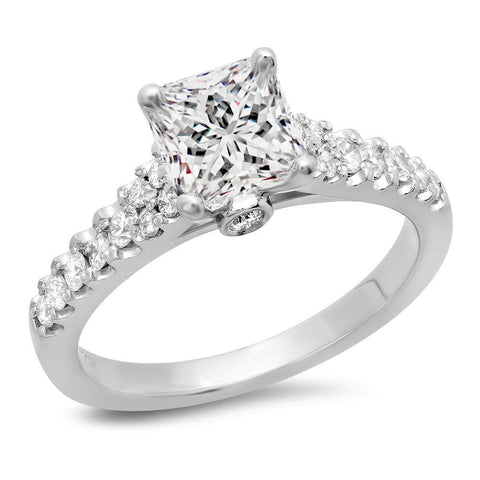 Jewels By Royal - Princess Cut Engagement Ring (PM82245PR)