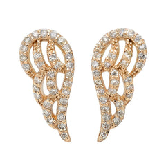 Jewels By Royal - Pave Wing Diamond Earrings (PMI78533)