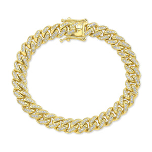 CHAIN BRACELET W/ ROUND-CUT DIAMONDS 2.20CT