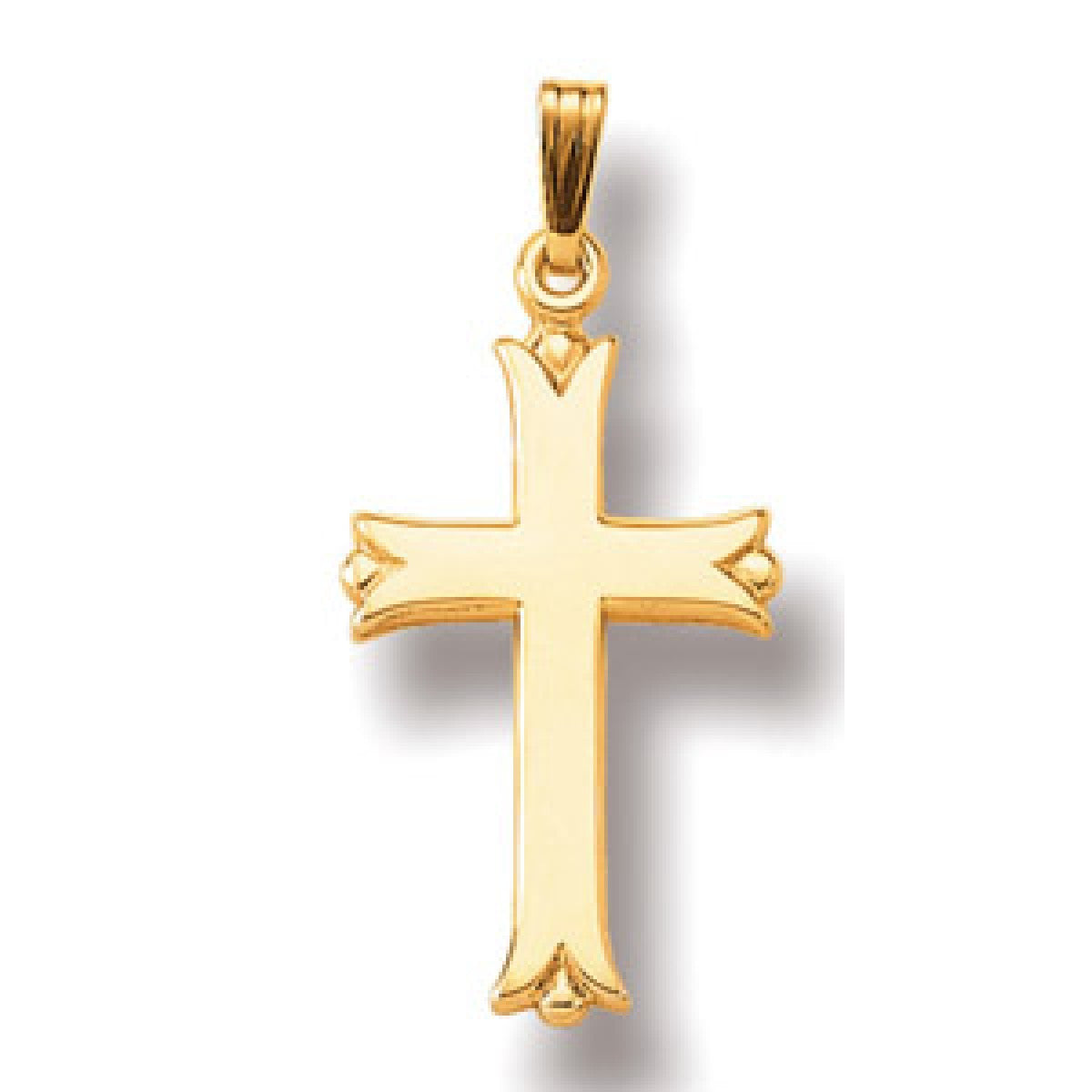 Jewels By Royal - 14K Yellow Gold Cross Pendant (JBRCRS27W)