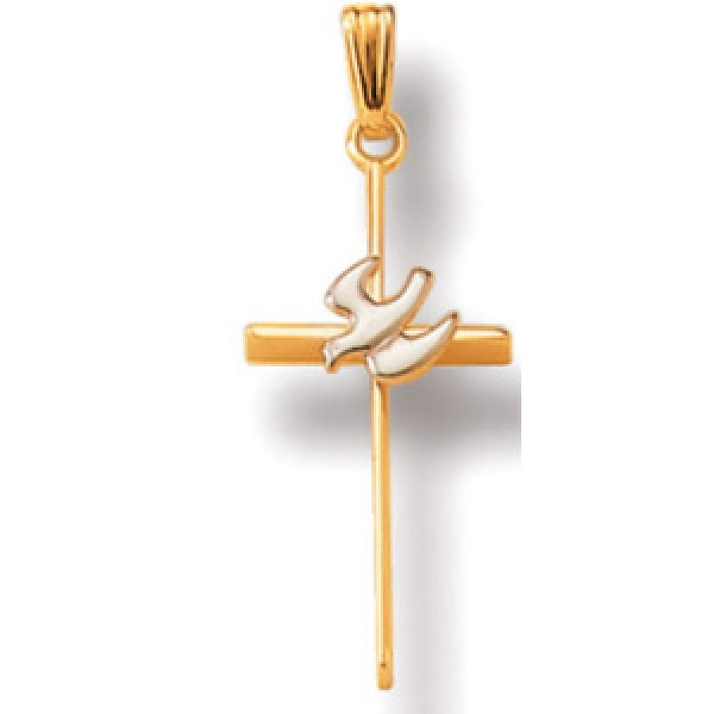 Jewels By Royal - 14K Two Tone Gold Cross Pendant (JBRCRS56TT)