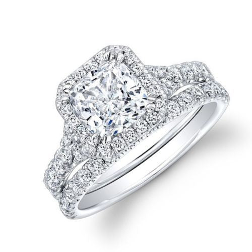 Jewels By Royal - Cushion Cut Diamond Bridal Set (CUBS03100)