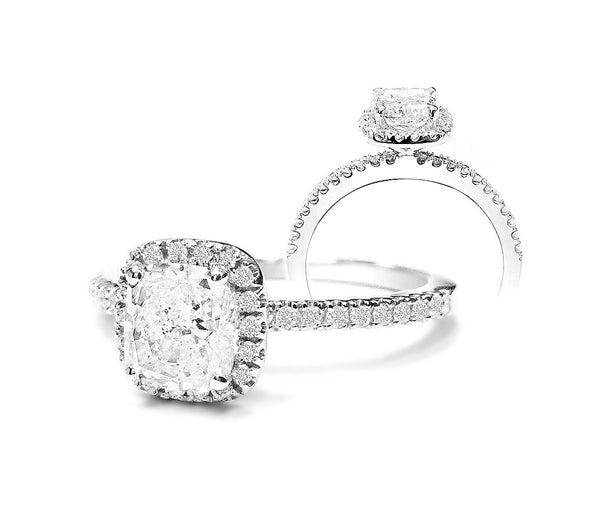 Jewels By Royal - Cushion Cut Bridal Set (CUBS0116919)