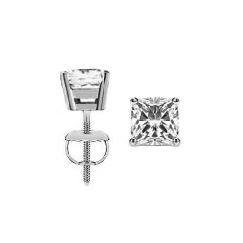 Eternity Diamond Rings - Cushion Cut Diamond Stud Earrings (CU050CT-531)